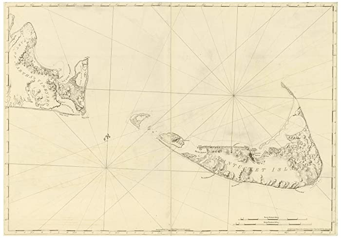 Map Of Usa 1776.Amazon Com Nantucket 1776 Map Revolutionary War Survey By British