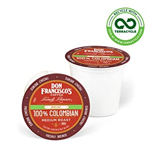 Don Francisco's Decaf 100% Colombia Supremo (24 Count) Recyclable Single-Serve Coffee Pods, Compatible with Keurig K-Cup Brewers