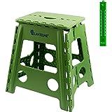 Lantelme Klapphocker Hocker aus Kunststoff Farbe grün Wetterfest für Haushalt, Garten und Camping