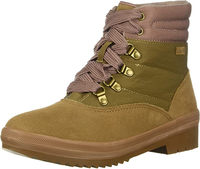 Keds Women's Camp Boot Suede + Nylon Thinsulate Wcx Boot, Brown, 7.0 M US