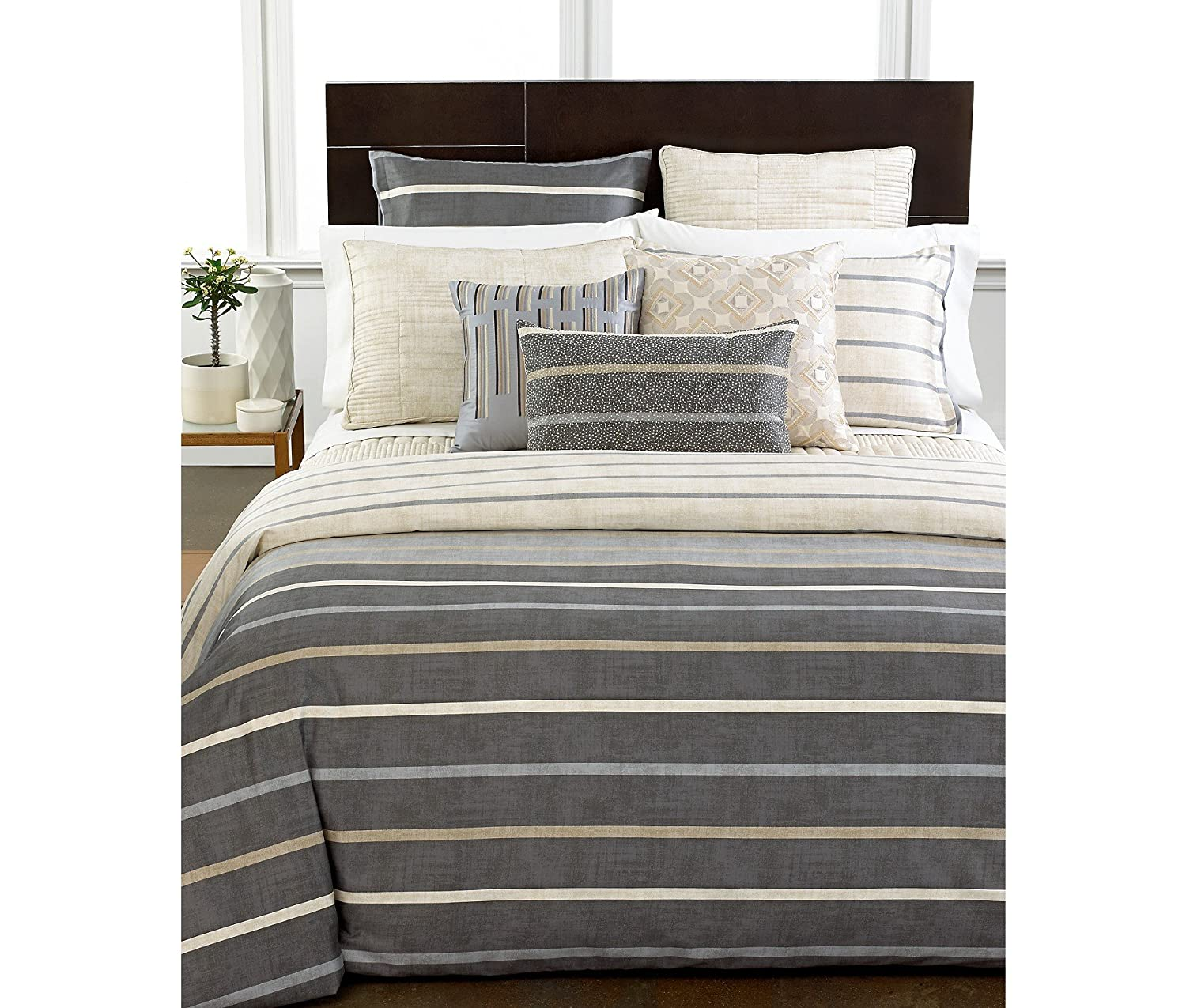 amazoncom hotel collection modern colonnade queen duvet cover  - amazoncom hotel collection modern colonnade queen duvet cover home kitchen
