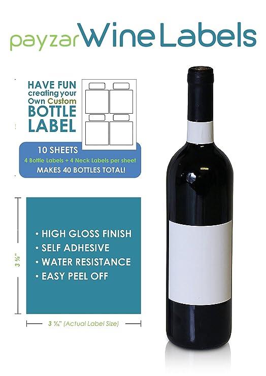 Etiquetas en blanco para botellas de vino - 40 unidades ...