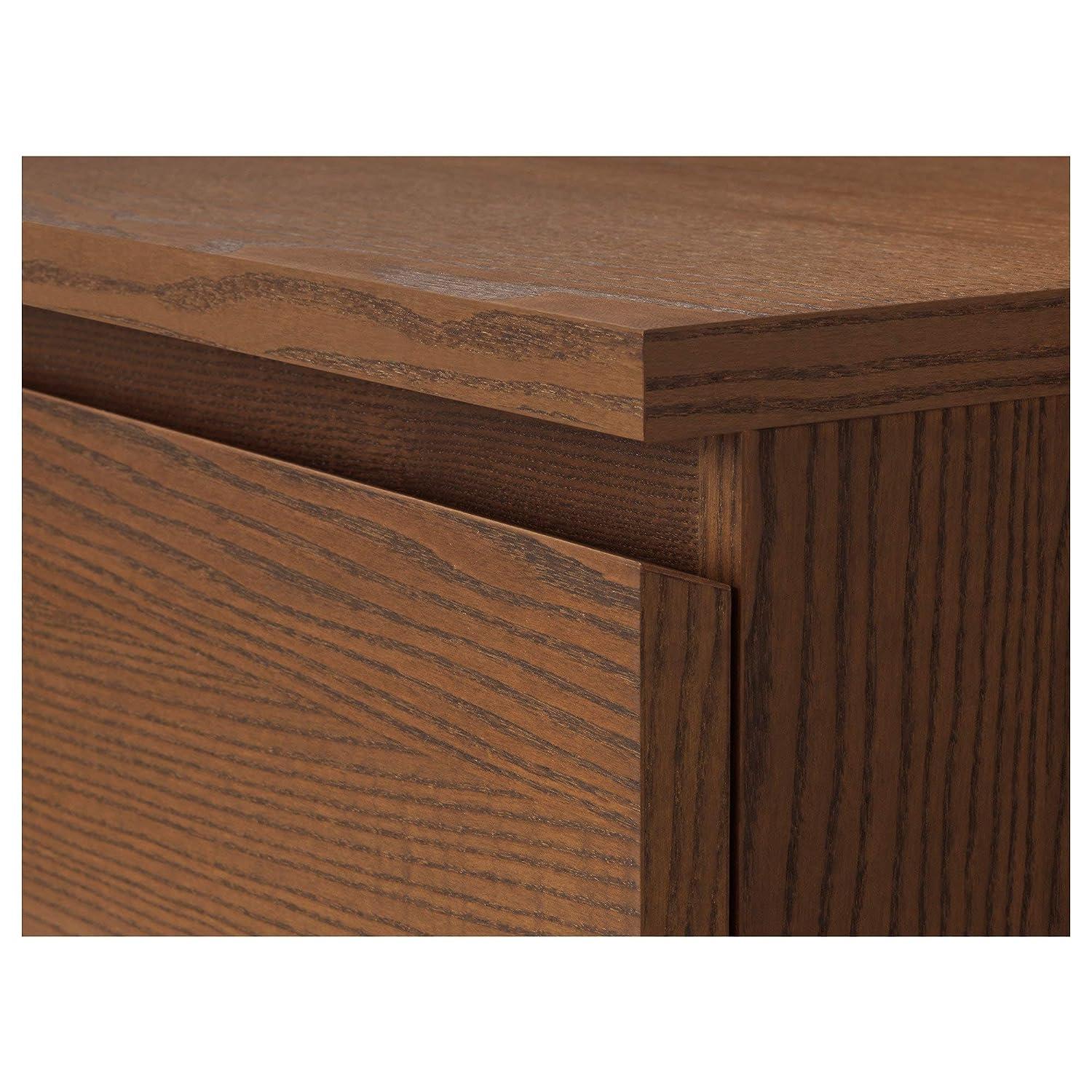 IKEA.. 403.604.63 Malm - Cajonera con 4 cajones, Color marrón ...