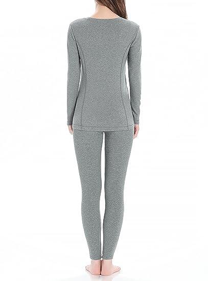 Genuwin Ropa Térmica para Mujer - Camiseta Manga Larga & Pantalones Largos - Ropa Interior Funcional para Invierno - Warm +, 1 Conjunto: Amazon.es: Ropa y ...