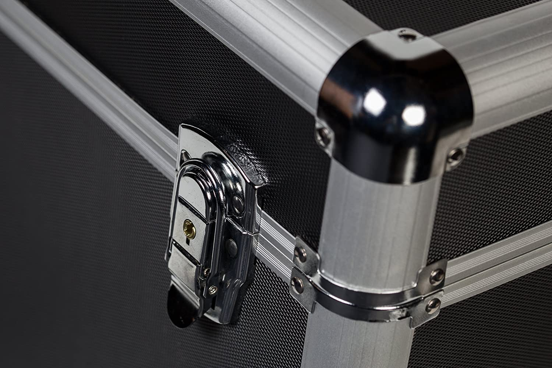 Scatola per dischi in vinile di materiale durevole e/con serratura in/ABS e alluminio rinforzato 254/x 30,5/cm