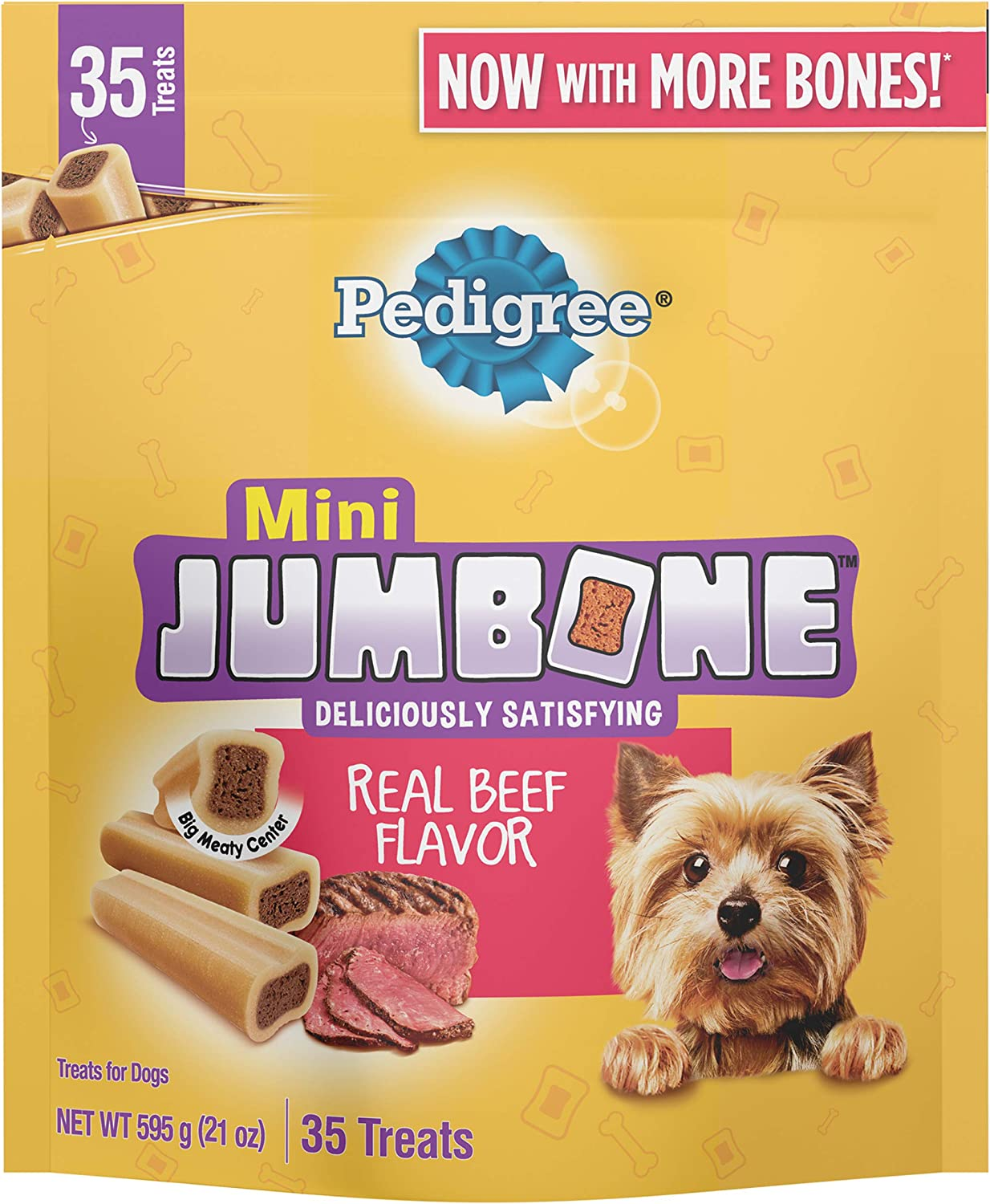 Pedigree Jumbone & Marrobone Dog Treats, Beef Flavor