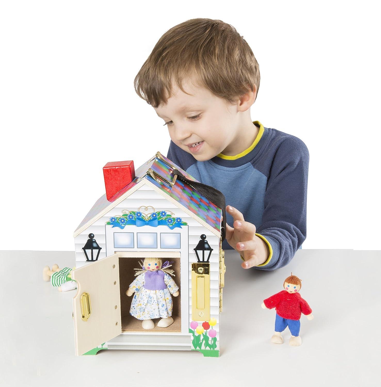 Melissa  Doug 2505 casa de muñecas - casas de muñecas (228,6 mm, 172,7 mm, 172,7 mm, 997,9 g, 190,5 mm, 182,9 mm)