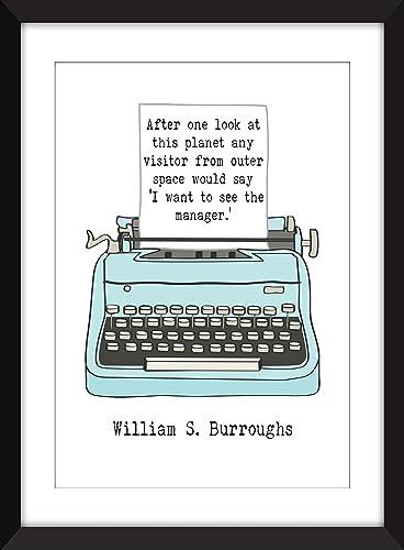 Amazoncom William S Burroughs Planet Quote Unframed Print Handmade