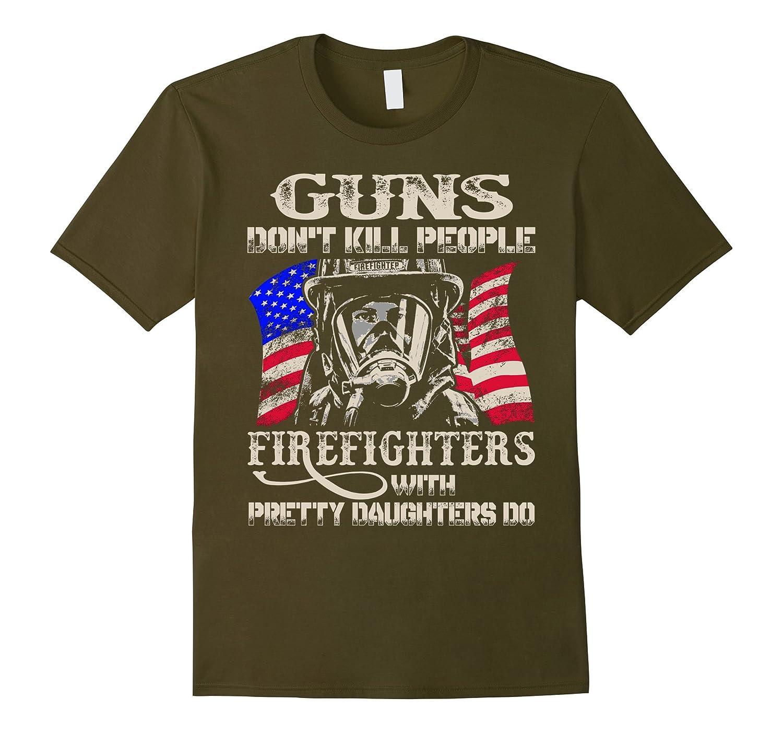 BeeTee: Guns Don't Kill People. Firefighter Does T-Shirt-T-Shirt