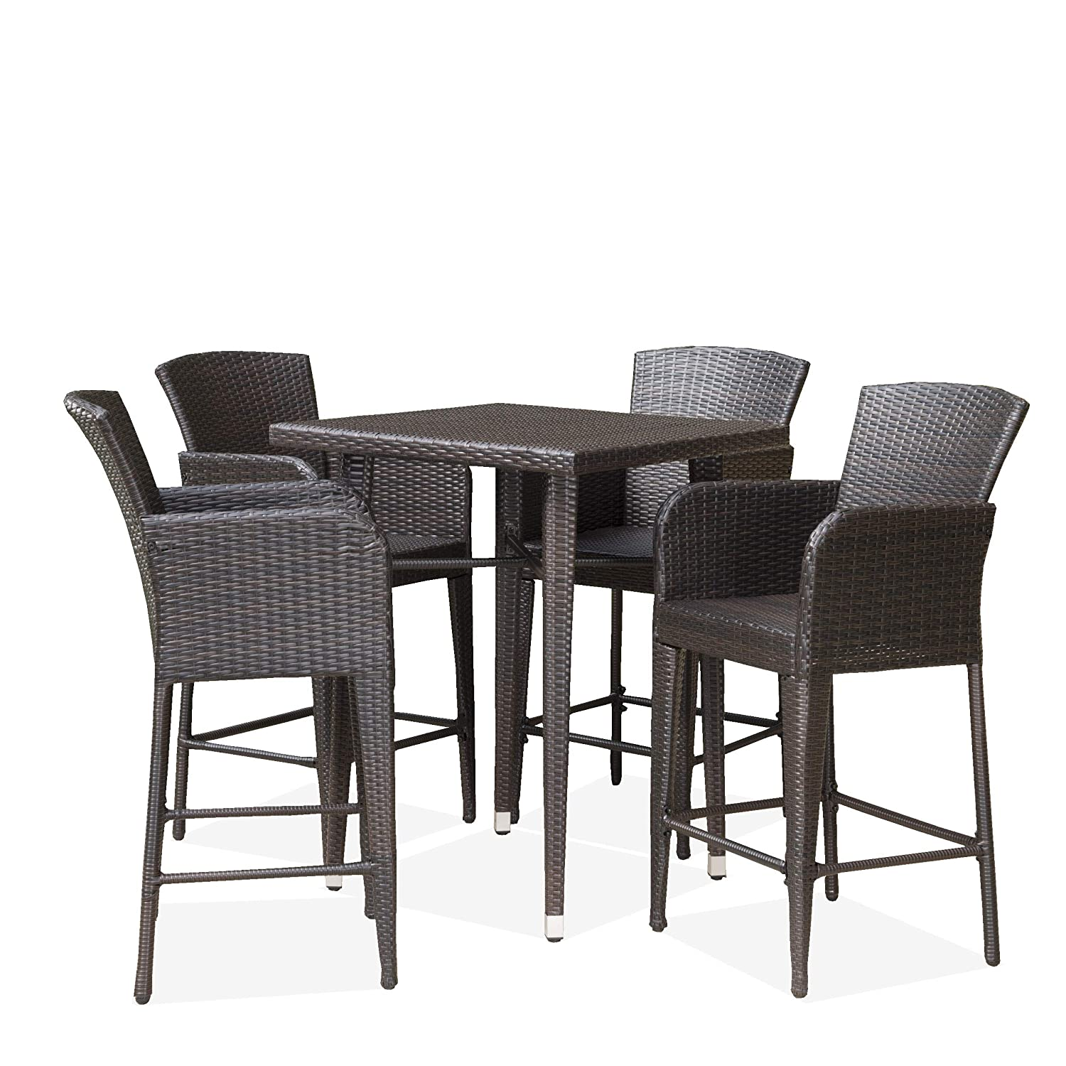 Best Outdoor Bar Sets 2019 Patio Bar Table And Barstools Set Reviews
