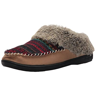 Dearfoams Women's Mixed Material Clog w Jacquard | Slippers