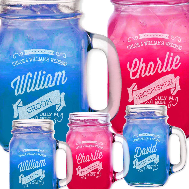 PERSONALISED MASON JAM JARS DRINKING JAR GLASSES Gifts for Her Him Novelty Idea