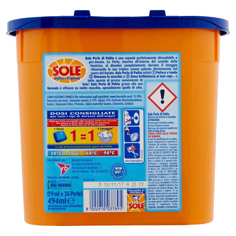 SOLE Lav.ecodosi classico *18 pz. - Detergente para la ropa ...