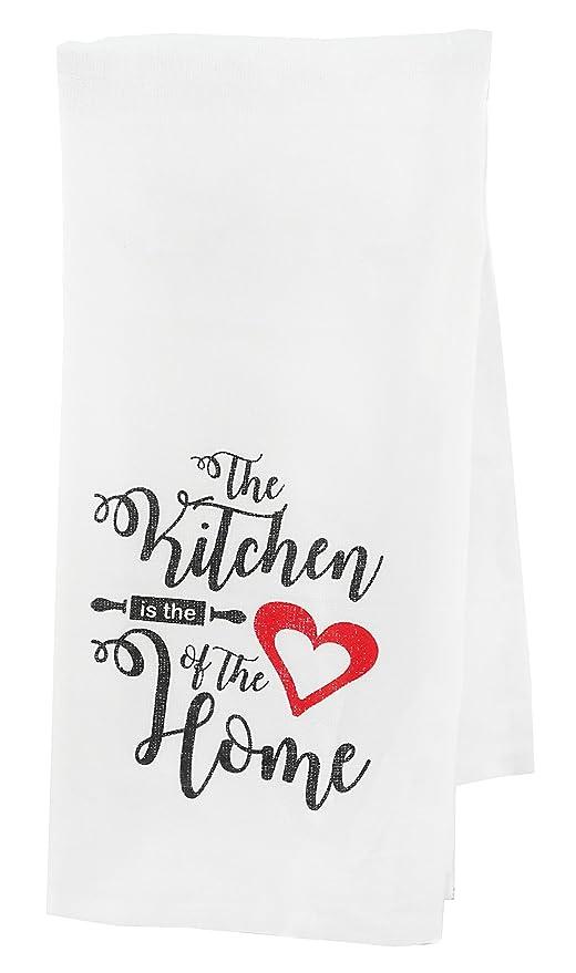 La cocina es el corazón de la casa toalla de té