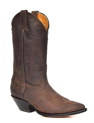 Luggage Of Cuir Homme De House Cowboy Bottes Pour En Talon Véritable vN08mwn