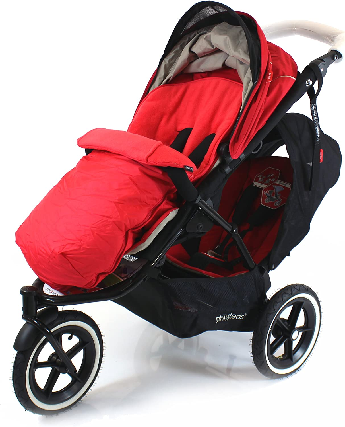 Deluxe Footmuff//Cosy Toes Compatible with Phil /& Teds Dot Pushchair Grey