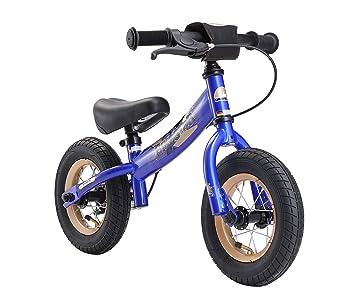 BIKESTAR - Bicicleta de Equilibrio para niños de 2 años con neumáticos de Aire y Frenos de 10 Pulgadas, edición Deportiva, Color Azul Aventurero: Amazon.es: ...