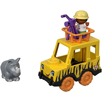 Fisher-Price Little People Observe & Learn Safari Vehicle: Toys & Games