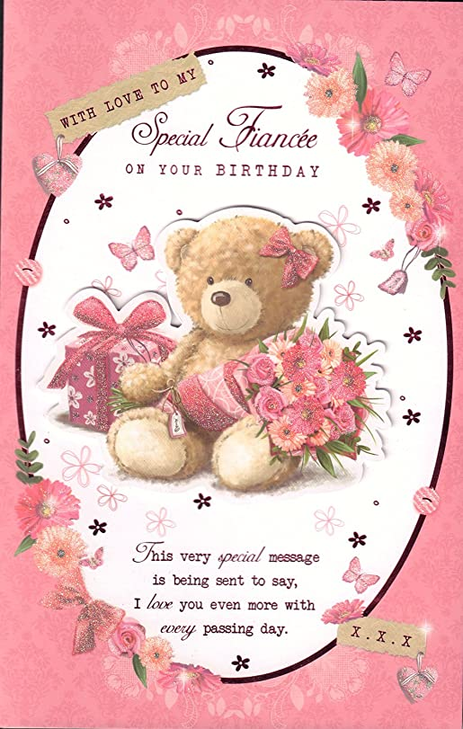 Fiancee Birthday Card With Love To My Special Fiancee On Your – Fiancee Birthday Card