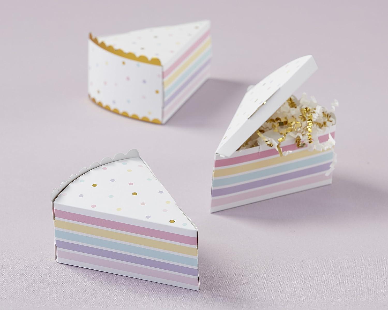 Amazon.com: Kate Aspen 28379NA Cake Slice Favor Box (Set Of 12 ...