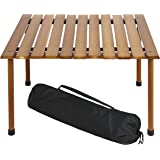 Best Choice Products Wooden Portable Table With Carrying Case