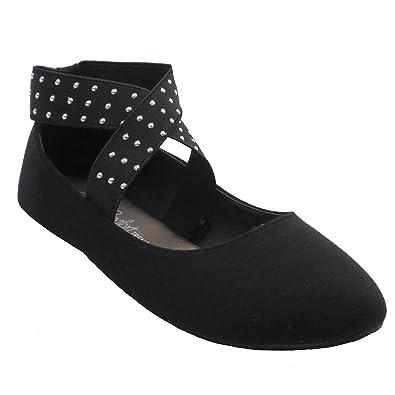 906d9b4ae811e Blue Suede Shoes Women Fashion Flat Ankle Straps 2017-BANDITION-LYLA-H Black