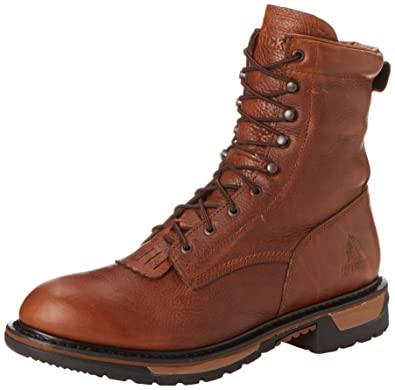 Amazon.com | Rocky Men's Original Ride Lacer Pitstop Work Boot ...