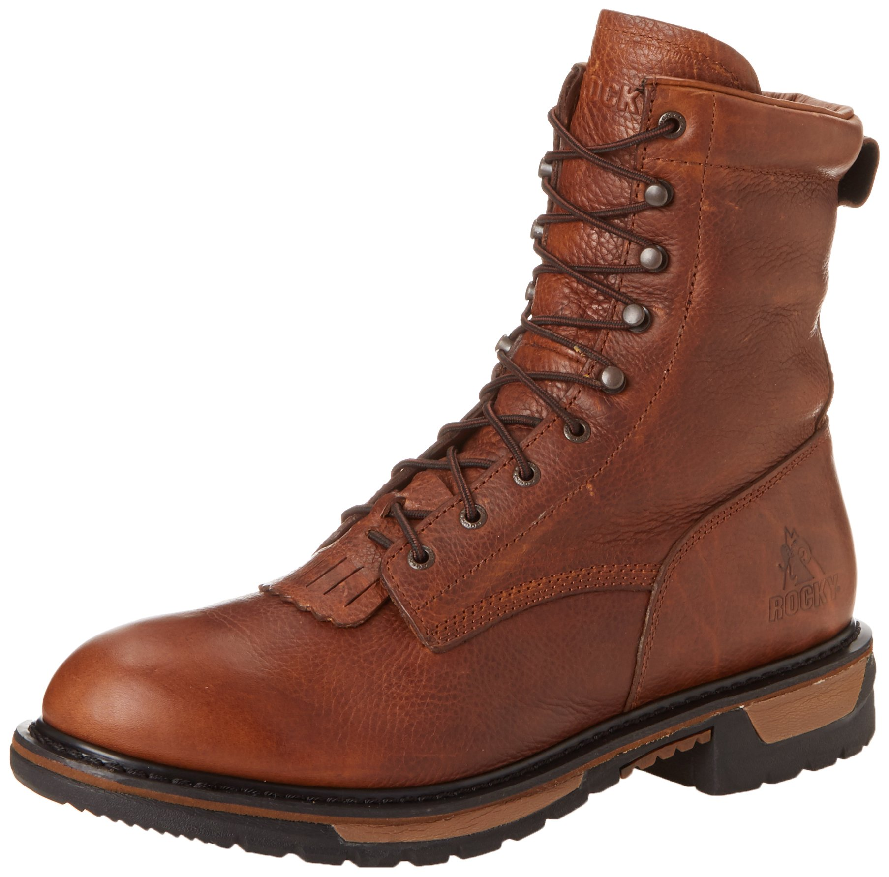 Rocky Men's Original Ride Lacer Pitstop Work Boot,Tan Pitstop,7 W US