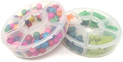Mini Plastic Jewelry Beads Earring Pill Storage Box Round Containers Case New