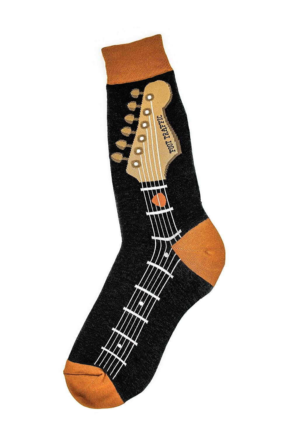 Foot Traffic - Men's Music-Themed Socks, Fits Men's Shoe Sizes 7-12 6880M