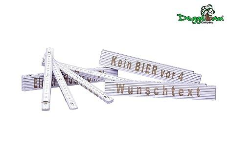 Zollstock Laser Gravur Super Opa beidseitig Wunschtext Spruch