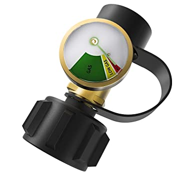DozyAnt Propane Tank Gauge Level Indicator Leak Detector Gas Pressure Meter  Universal for RV Camper, Cylinder, BBQ Gas Grill, Heater and More