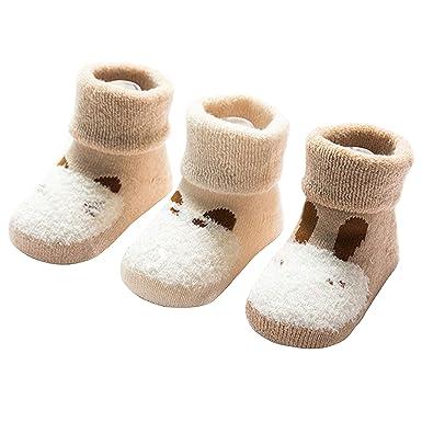 9f72bf9d08 RUXIYI 3 Paare Bio-Baumwolle Babysocken Niedlichem Muster für 0-36 Monate  Baby Mädchen