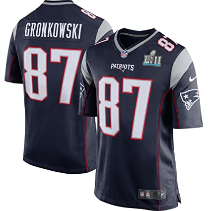 95d6fdd4 Rob Gronkowski New England Patriots Nike Super Bowl LII Bound Game Jersey  Navy (Large)