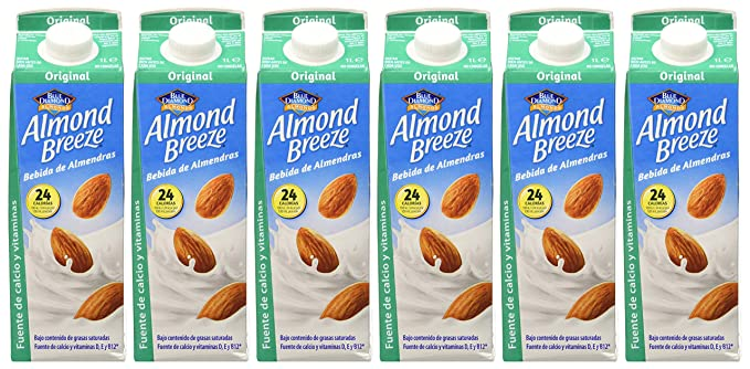 Almond Breeze Bebida de Almendra Original - Paquete de 6 x 1000 ml - Total: 6000 ml: Amazon.es: Alimentación y bebidas