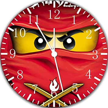 Reloj de pared Ninjago de Lego Ninja 25,4 cm se color y para pared Z19: Amazon.es: Hogar