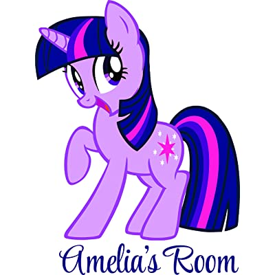 My Little Pony Art Sticker Personalized Custom Name Wall Decals Wall Design Stickers Vinyl Removable Children Kids Rooms Girls Boys Baby Nursery Cartoon Size 20x20 inch: Baby