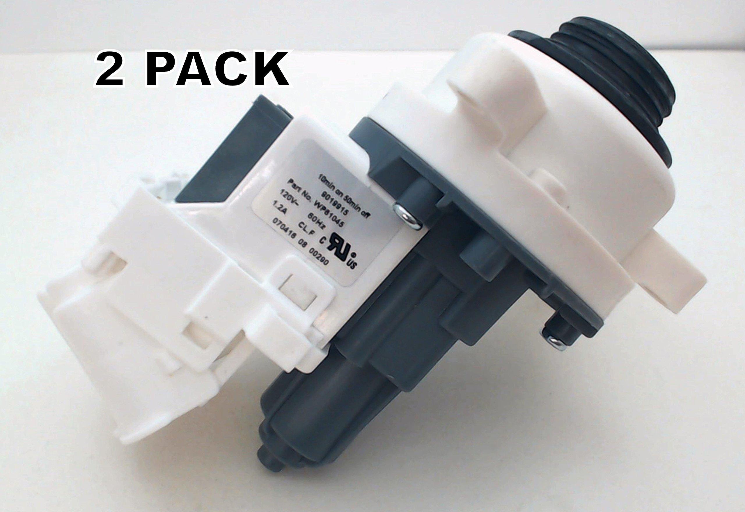 Seneca River Trading 2 Pk, Washing Machine Water Pump for Whirlpool, AP6023670, WPW10661045