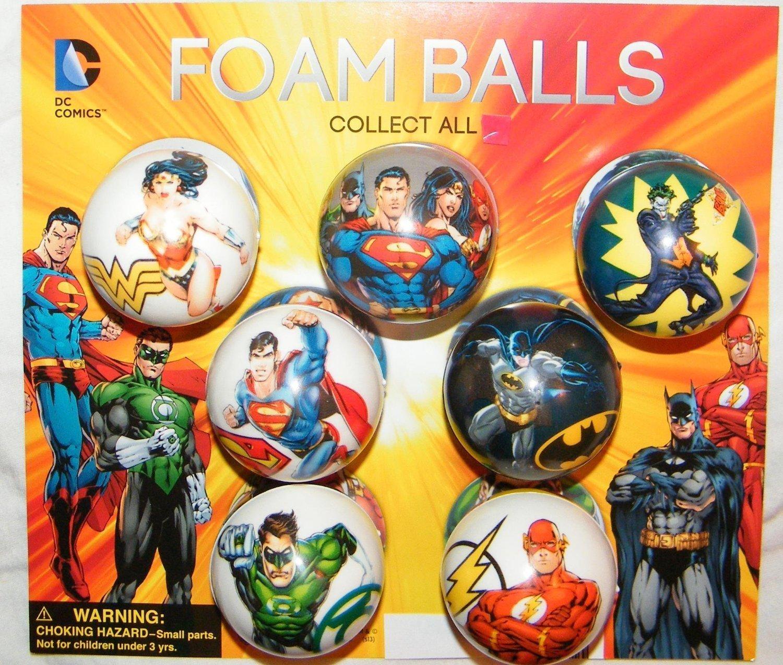 Batman, Superman, Justice League DC Superhero Figure Soft Foam Ball Toys Collection of 12 by Super Hero CollectsNHobbies