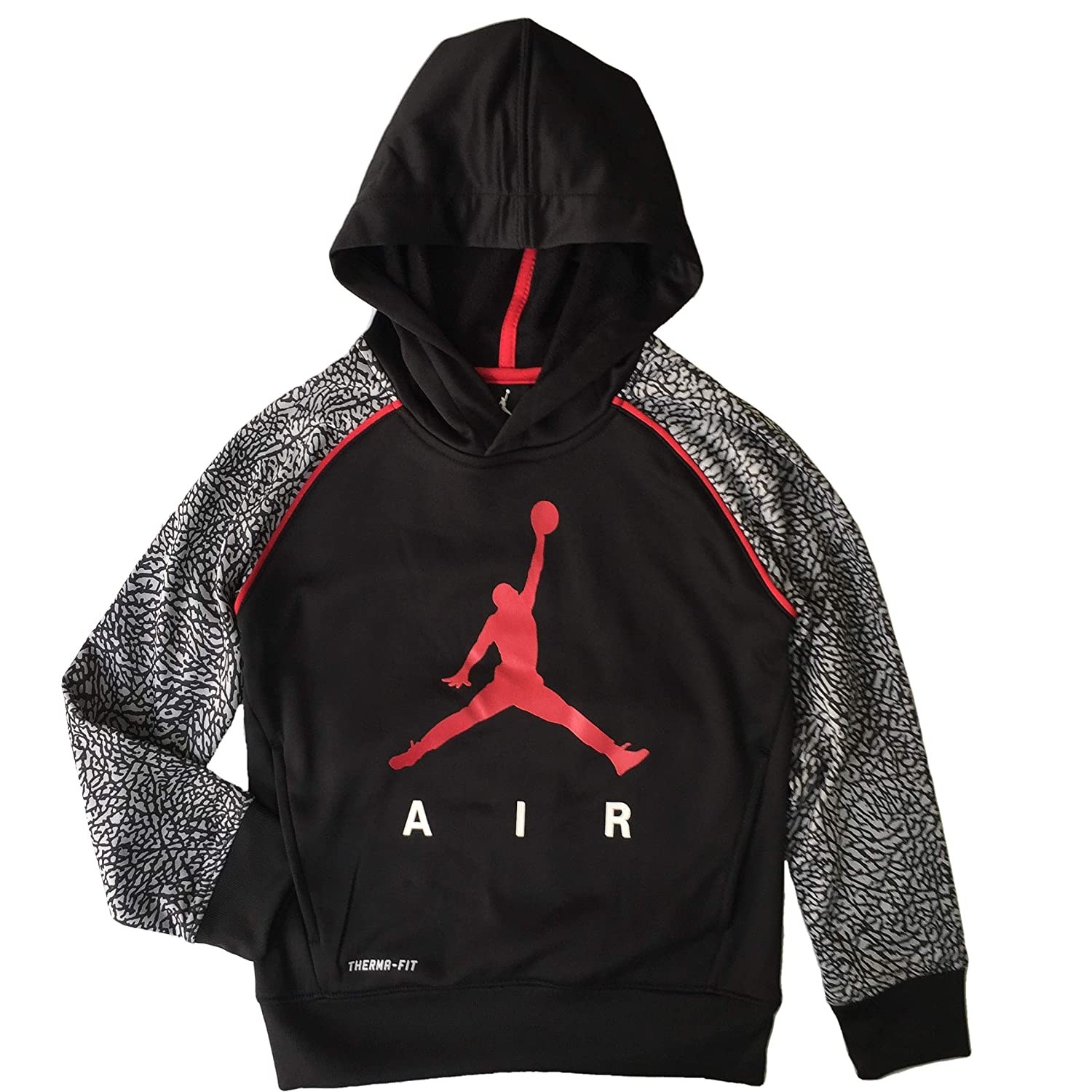 1ea08d29e0b168 He will stay comfy and right on-trend in the easy-going boys  Air Jordan  Elephant Print Hoodie. This plush hoodie features comfortable material to  lock in ...