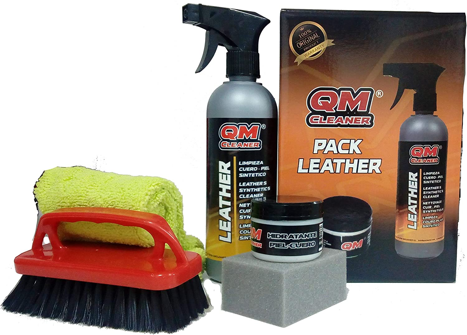 QM CLEANER PACK LEATHER, PACK DE LIMPIEZA E HIDRATACIÓN PARA MATERIALES DE PIEL