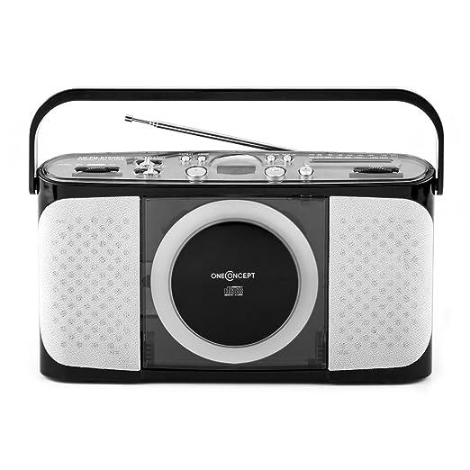6 opinioni per oneConcept Boomtown-Beach lettore CD radio portatile (MP3, porta USB,