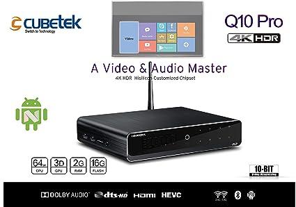 CUBETEK Q10 PRO Himedia 4K HDR Media Player with USB 3 0, SAT, 60fps, 4 0  Bluetooth with 2GB RAM and 16GB ROM,HDMI 2 0A(Black)