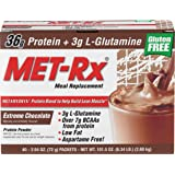 MET-Rx Original Meal Replacement, Extreme Chocolate Meal Replacement Protein Powder Gluten Free 2.54oz. Packets, 40 Count