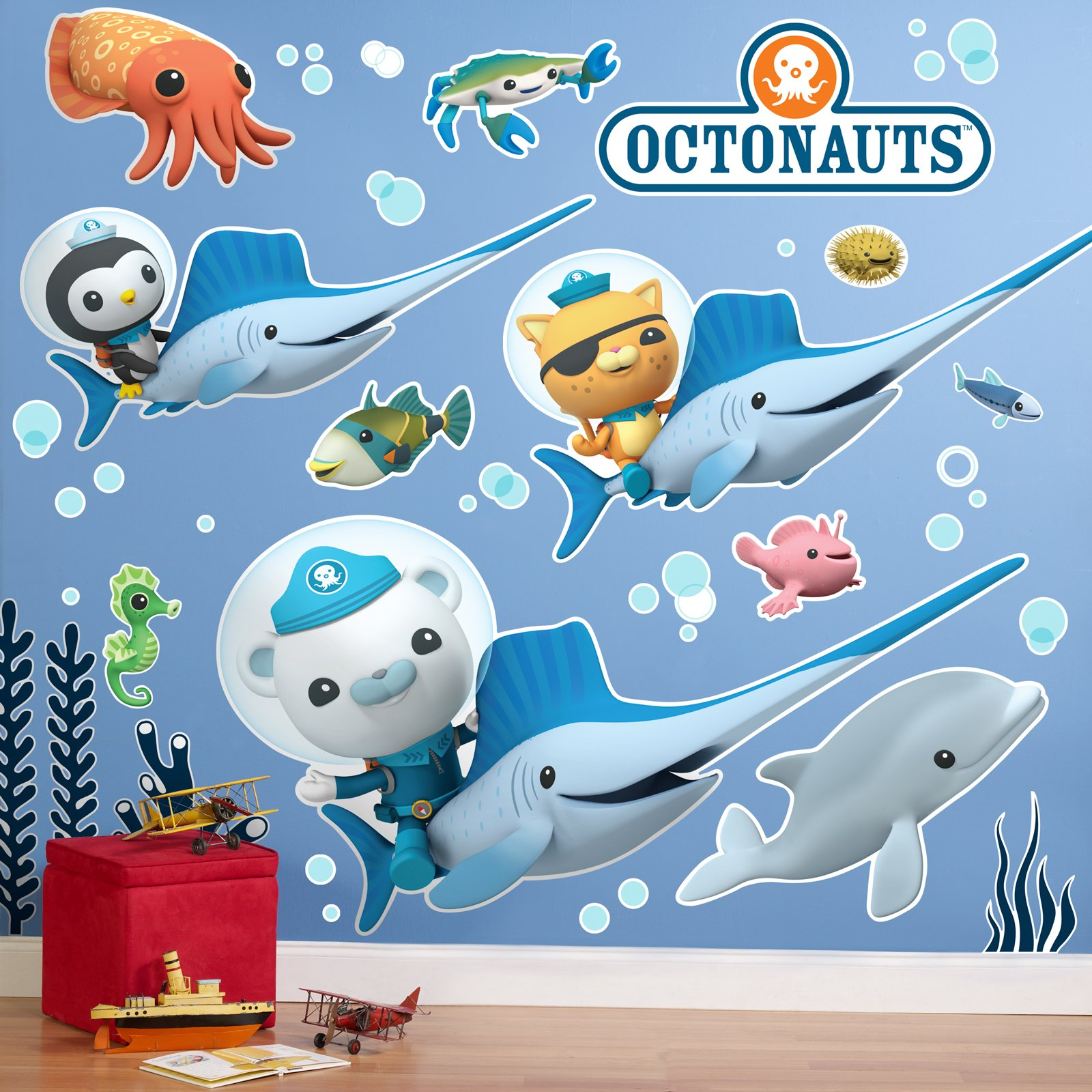 BirthdayExpress The Octonauts Room Decor - Giant Wall Decals, Party Supplies by BirthdayExpress (Image #1)