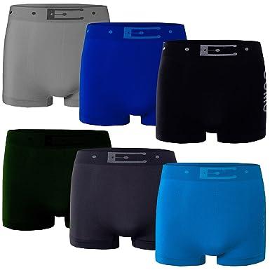 c3efd58b12e9d Bongual 6-x Herren Basics Unterhose Retroshorts Microfaser Seamless Belt  Print  Amazon.de  Bekleidung