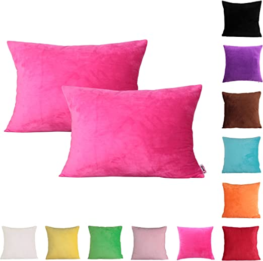 New Multi Size Solid Simple Pillow Case Home Throw Pillowcase Pillows 40 45 50cm