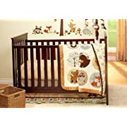Carter's Woodland Friends Collection 4 Piece Crib Bedding Set