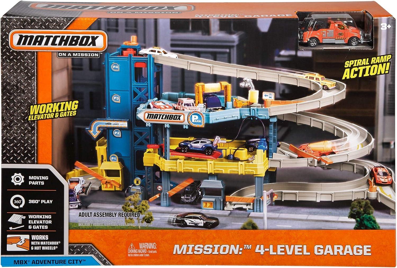 Matchbox - Garaje Coches juguete de 4 Plantas(CJM67): Amazon.es: Juguetes y juegos