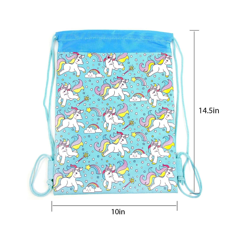 Pink Unicorn Drawstring Backpack and Wristlet